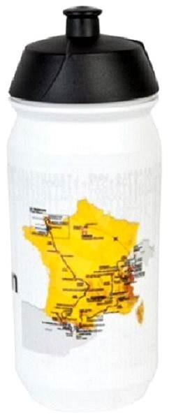Tour de France Bidon bílá mapa - Láhev