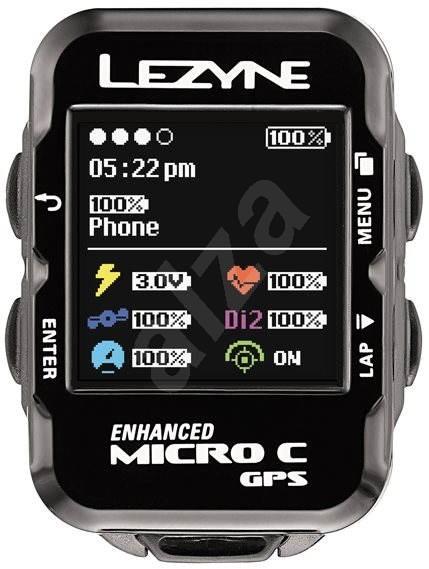 Lezyne Micro Color GPS Black - Cyklocomputer