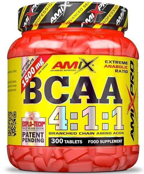 Amix Nutrition BCAA 4:1:1, 300tbl - Amino Acids