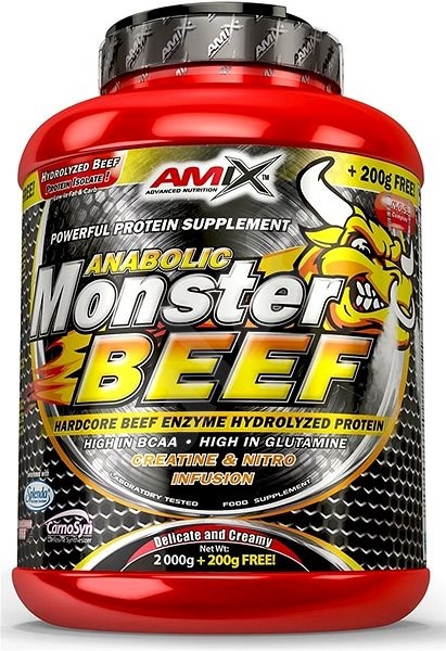 Amix Nutrition Anabolic Monster Beef 90% Protein, 2200g, Strawberry-Banana - Protein