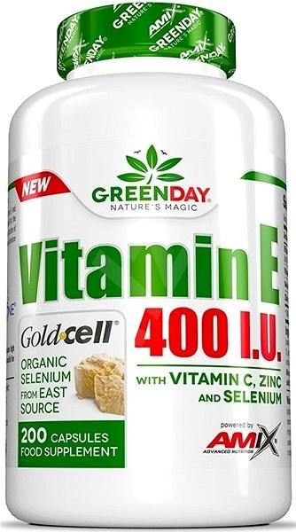 Amix Nutrition Green Day Vitamin E 400 I.U. Life+, 200 kapslí - Vitamín