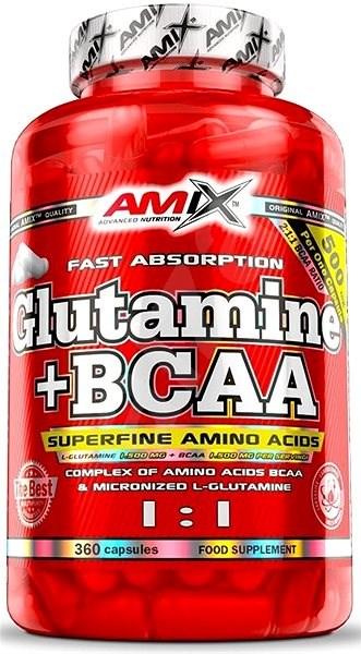 Amix Nutrition L-Glutamine + BCAA, 360cps - Amino Acids