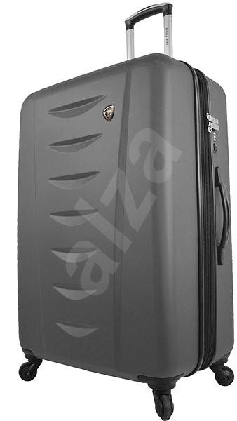 Mia Toro M1014/3-M - stříbrná - Cestovní kufr s TSA zámkem