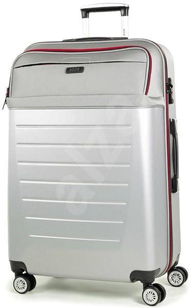 Rock TR-0166/3-L ABS/PES - stříbrná - Cestovní kufr s TSA zámkem
