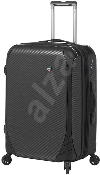 Mia Toro M1021/3-M - černá - Cestovní kufr s TSA zámkem