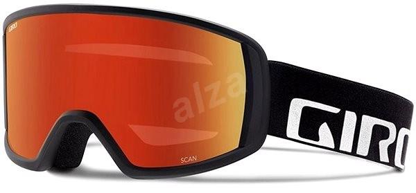 fe91e00ce GIRO Cruz Black Wordmark Amber Scarlet - Lyžařské brýle | Alza.cz