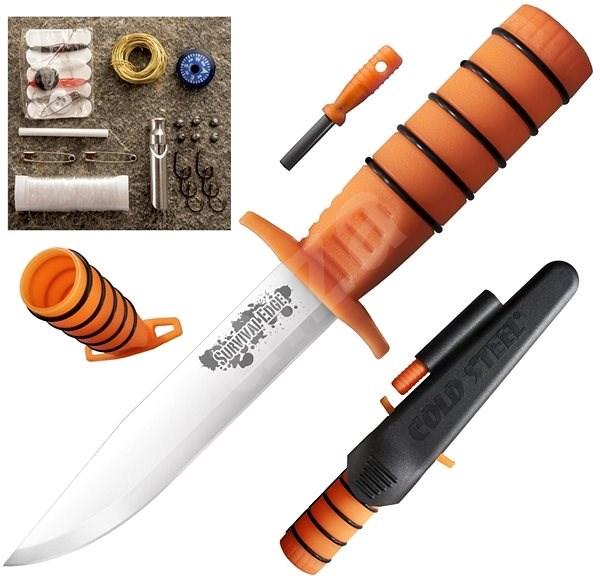 Cold Steel Survival Edge oranžový - Nůž