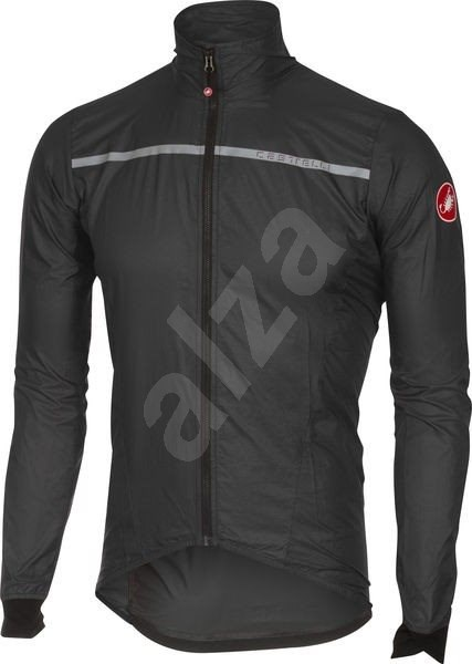 Castelli Superleggera Jacket Anthracite/Yellow XL - Bunda