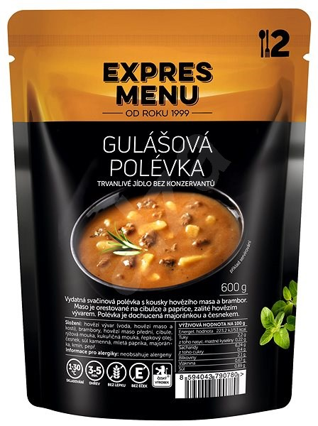 Expres Menu Gulášová polévka - MRE