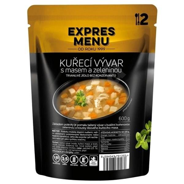 Expres Menu Kuřecí vývar s masem a zeleninou - MRE