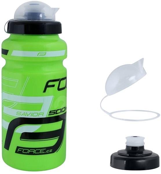 Force SAVIOR ULTRA 0,5 l, zeleno-bílo-černá - Láhev na pití
