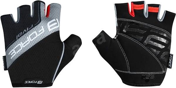 Force RIVAL, černo-šedé S - Cyklistické rukavice