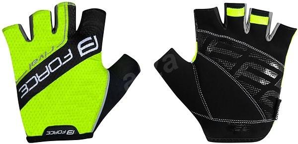Force RIVAL, fluo-černé XL - Cyklistické rukavice