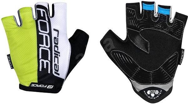 Force RADICAL, fluo-bílo-černé XXL - Cyklistické rukavice