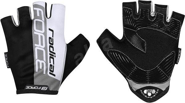 Force RADICAL, šedo-bílo-černé XXL - Cyklistické rukavice
