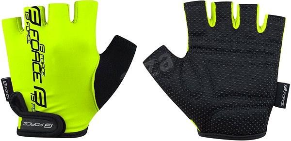 Force KID, fluo S - Cyklistické rukavice
