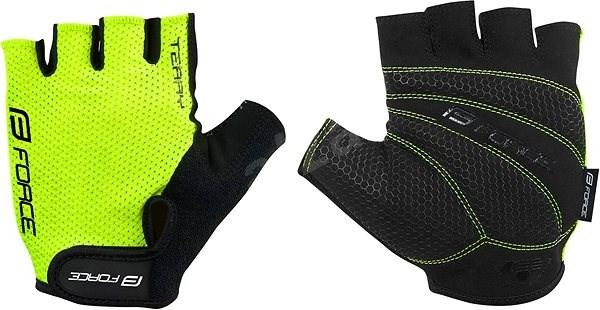 Force TERRY, fluo L - Cyklistické rukavice