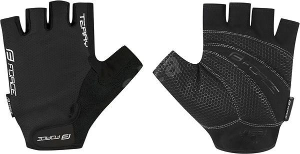 Force TERRY, černé S - Cyklistické rukavice