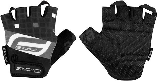 Force SQUARE, černé S - Cyklistické rukavice