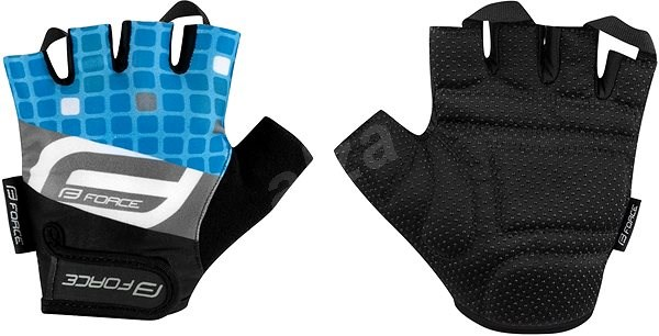 Force SQUARE, modré L - Cyklistické rukavice