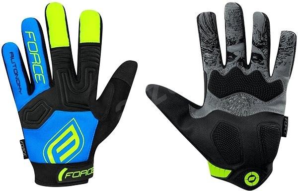 Force MTB AUTONOMY, černo-modré XL - Cyklistické rukavice