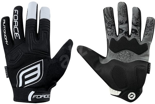 Force MTB AUTONOMY, černé XXL - Cyklistické rukavice