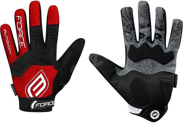 Force MTB AUTONOMY, červené L - Cyklistické rukavice