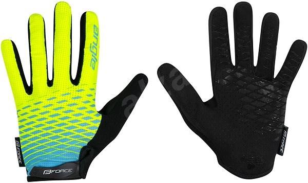 Force MTB ANGLE, fluo-modré XXL - Cyklistické rukavice