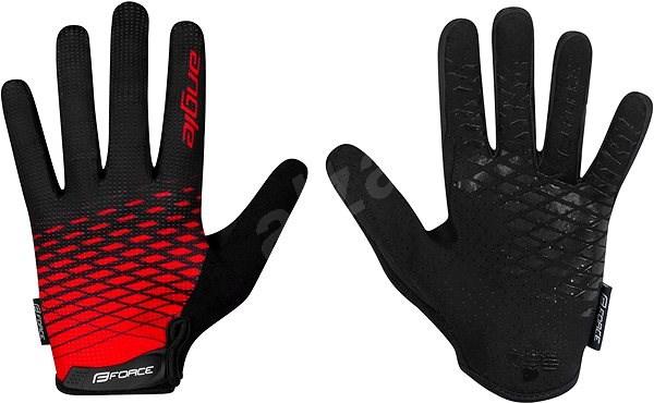 Force MTB ANGLE, červeno-černé XXL - Cyklistické rukavice