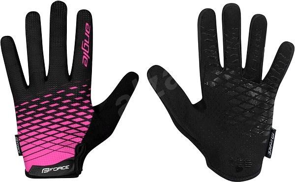 Force MTB ANGLE, růžovo-černé M - Cyklistické rukavice