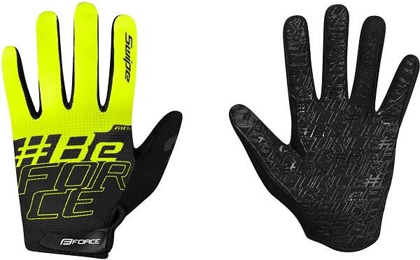Force KID MTB SWIPE, černo-fluo M - Cyklistické rukavice