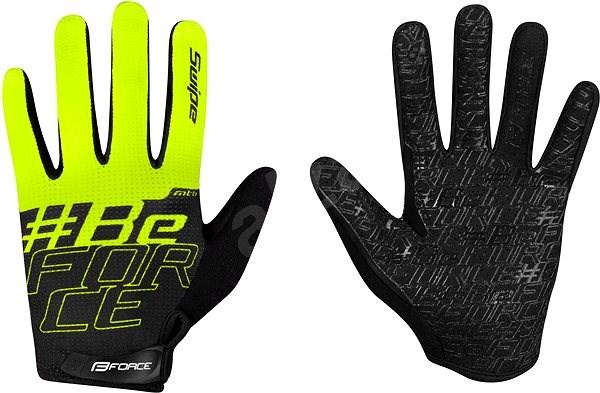 Force MTB SWIPE, černo-fluo L - Cyklistické rukavice