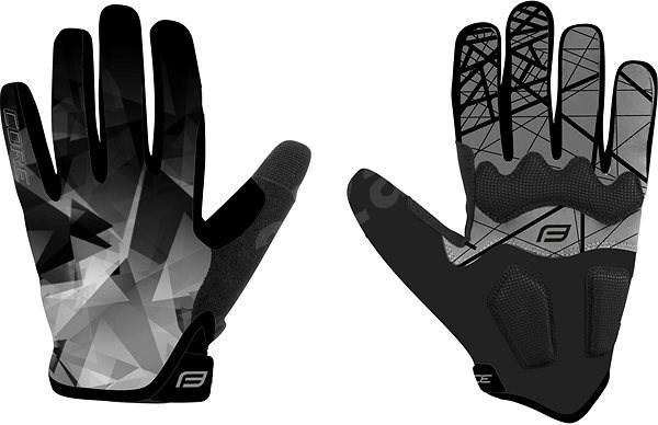 Force MTB CORE, šedé S - Cyklistické rukavice