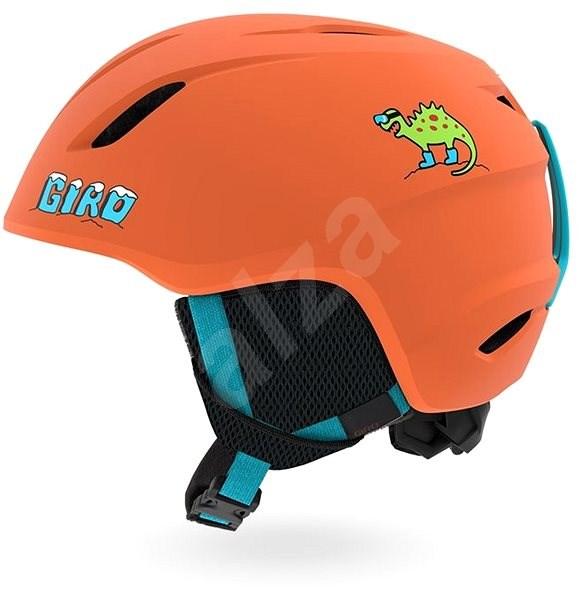 GIRO Launch Mat Deep Orange Dino XS - Lyžařská helma