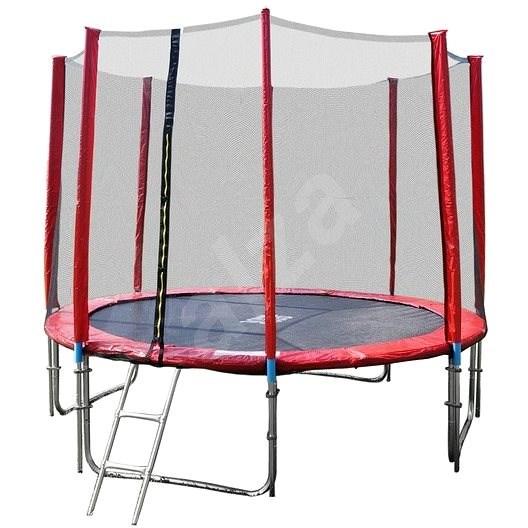 GoodJump 4UPVC červená trampolína 366 cm s ochrannou sítí + žebřík - Trampolína