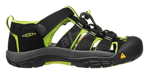 Keen Newport H2 K black/lime green EU 30 / 181 mm - Sandály