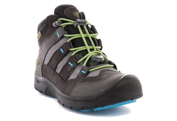 Keen Hikeport Mid WP Jr. magnet/greenery EU 32/33 / 197 mm - Outdoorové boty