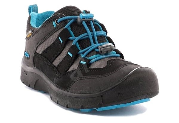 Keen Hikeport WP Jr. black/blue jewel EU 39 / 248 mm - Outdoorové boty
