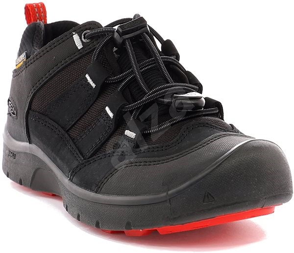 Keen Hikeport WP Jr. black/bright red EU 32/33 / 197 mm - Outdoorové boty