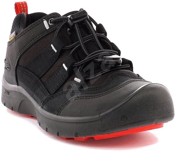Keen Hikeport WP Jr. black/bright red EU 35 / 216 mm - Outdoorové boty