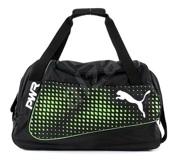 7d503599b Puma evoPOWER Medium Bag Puma Black-Green Gec - Sportovní taška ...