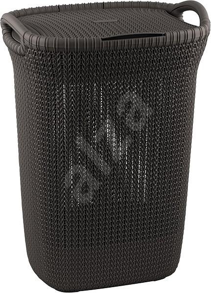 Curver Knit 57L hnědý - Koš na prádlo