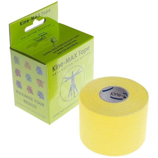 Kine-MAX SuperPro Rayon kinesiology tape žlutá - Tejp