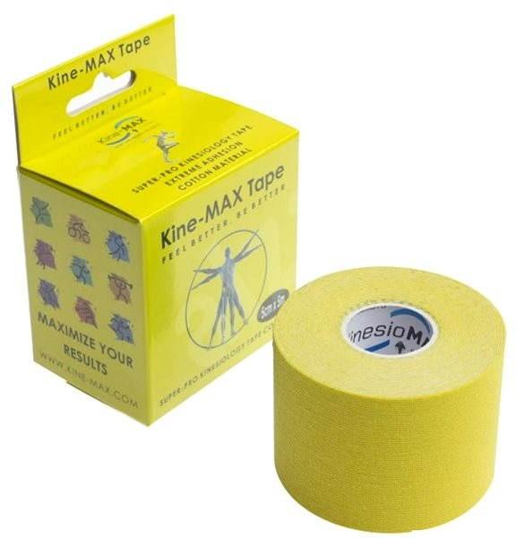 Kine-MAX SuperPro Cotton kinesiology tape žlutá - Tejp