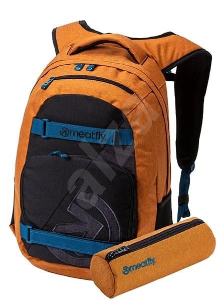 Meatfly Exile 4 Backpack Ht. Camel/Black/Ht. Charcoal + penál zdarma - Městský batoh