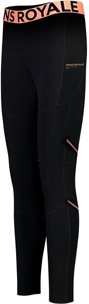 Mons Royale Olympus 3.0 Legging Black S - Dámské termokalhoty