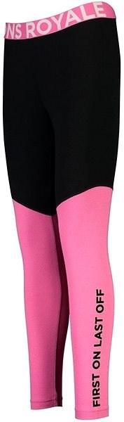 Mons Royale Christy Legging Pink / Black L - Dámské termokalhoty