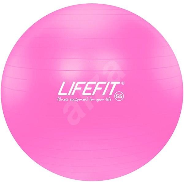 LifeFit anti-burst 55 cm, růžový - Gymnastický míč