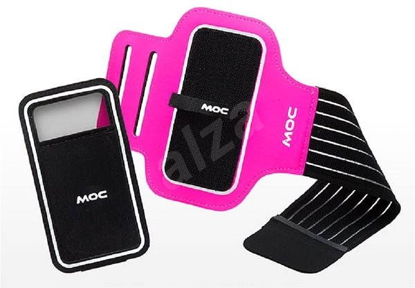 Moc Sport Armband with velcro pink velikost 67x136cm - Pouzdro