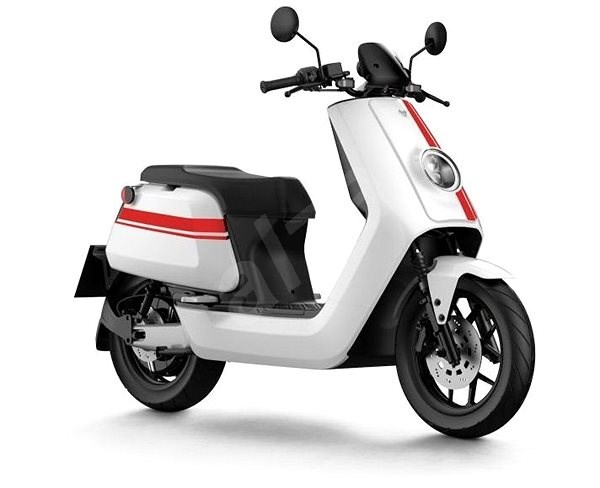 NIU NQi GTS PRO White/Red Stripes - Electric scooter